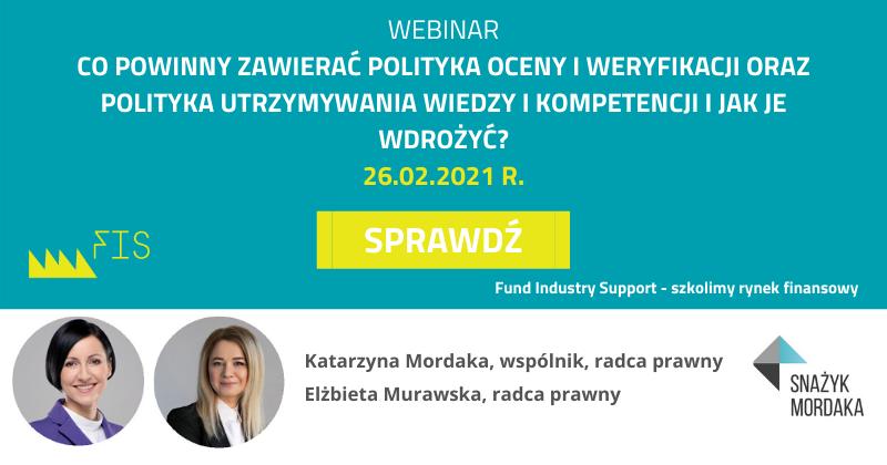 r.pr. Krzysztof Szachogłuchowicz Partner, Radca prawny Kancelaria Snażyk Mordaka sp.k. Wiceprezes Fund Industry Support Sp. z o.o. (4)
